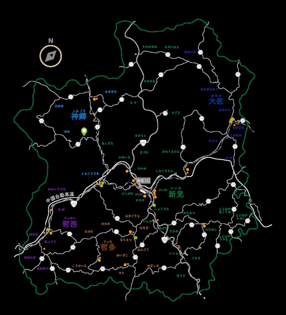 新見市全体地図