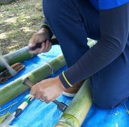 竹飯ごう作り