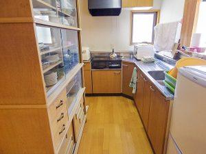 神郷三室農村交流体験施設のキッチン