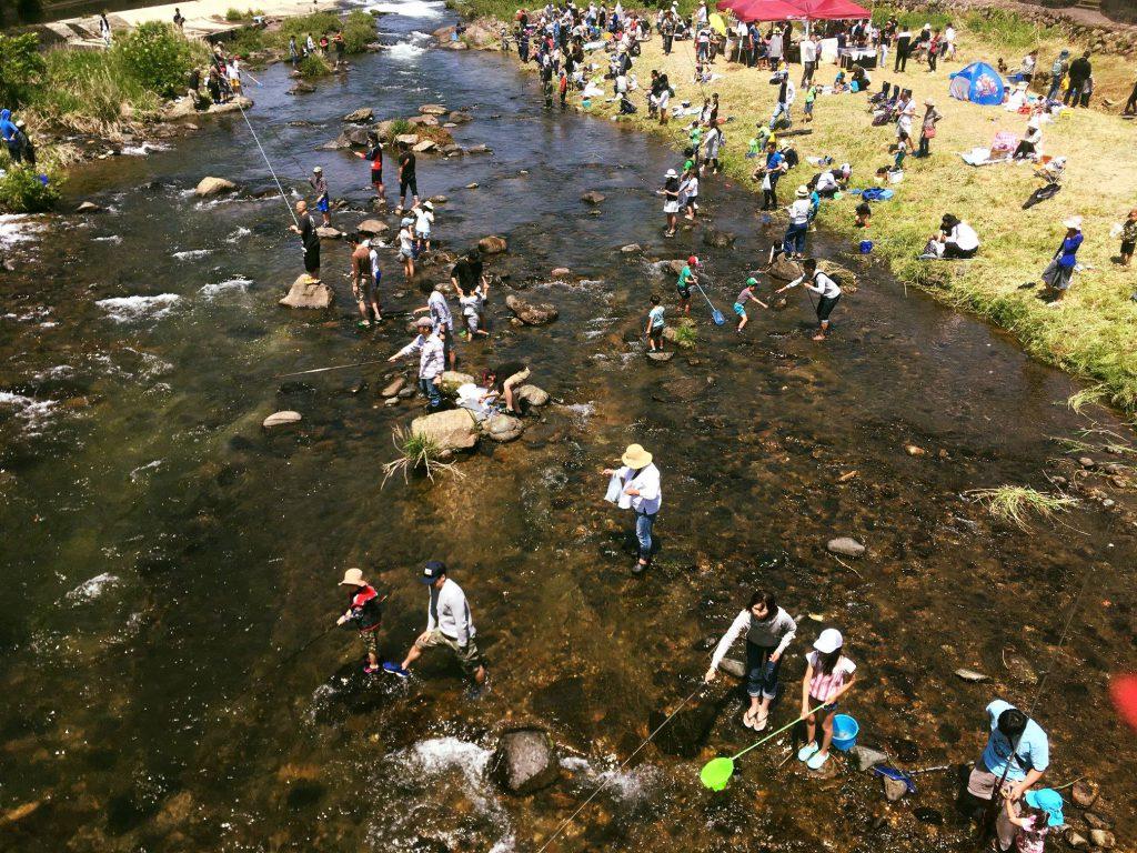 高梁川マス釣り大会